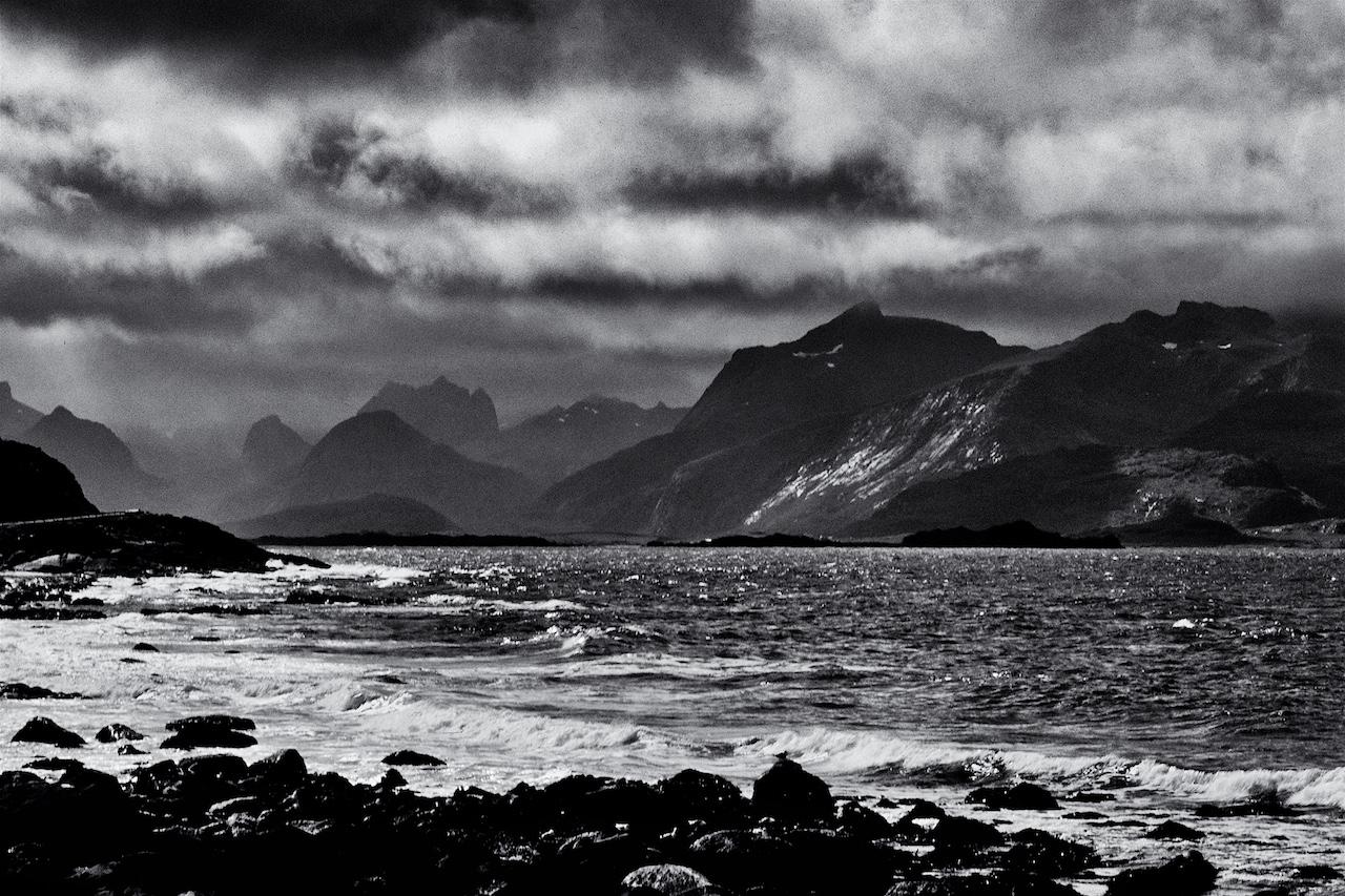 Spettacolare paesaggio norvegese